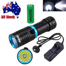 Waterproof Diving 10000LM XM-T6 LED Scuba Rechargeable Flashlight 26650 Light