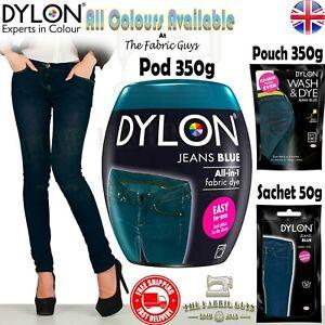 Dylon Wash Machine / Hand Fabric Clothes Dye Pod 350g Sachet 50g Wash & Dye 350g