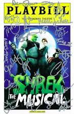 Shrek the Musical Original Broadway Cast SIGNED Playbill Sutton Foster COA