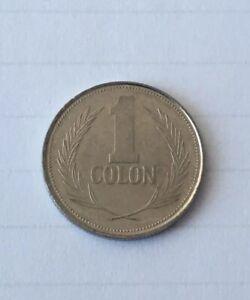 1 Colon From El Salvador Small Nickel Coin 25mm Salvadorean Coin 1 Colon