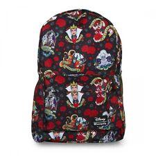 Loungefly Disney Villains Tattoo Flash Print Punk Laptop Bag Backpack WDBK0222