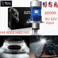 H4 Motorcycle LED Headlight Bulb 9003 HB2 HS1 P43t 6000K 9000LM CREE Hi/Low Beam