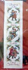 Janlynn Victorian Christmas Bell Pull Cross Stitch Kit 6 x 22 Donna Giampa  NIP