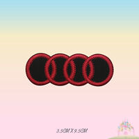 Audi Car Brand Logo Embroidered Iron On Patch Sew On Badge Applique