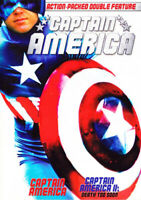 Captain America 1 (1979) / Captain America 2: Death Too Soon DVD NEW