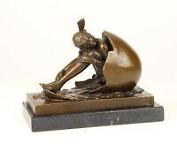 """99937990-dss Bronze Sculpture Beauty """" Cholesterol after B. Zach Figure H21cm"""