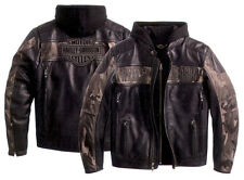 JACKET CAMOUFLAGE GENUINE LEATHER HARLEY DAVIDSON SIZE XL **STOCK** SALE -25%