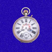 WW1 Goliath Patent 8-Day Patent Military 17J Omega Polychrome Pocket Watch 1914