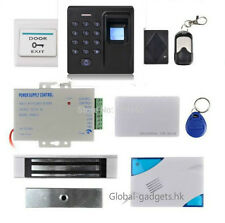 Fingerprint and RFID Card Door Access Control System with Magnetic Lock+Remote