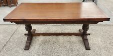 LARGE OLD CHARM 2 LEAF EXTENDING TABLE   DELIVERY AVAILABLE