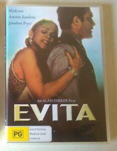 EVITA dvd RARE OOP madonna REGION 4 antonio banderas 1996 alan parker MUSICAL