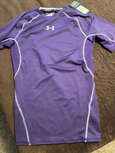 Men's Sz Medium Under Armour Purple Sz Small Compression short sleeved T NEW!
