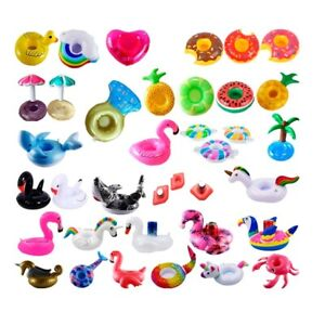 Inflatable Drinks Can Holder Mini Floating Cup Holder Pool Beach Summer Party