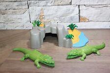 Playmobil Safari Wasserstelle 2 Krokodile