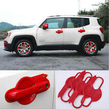 ABS red Side door Outer Door Bowl Cover Trim 4pcs For 2015-2018 Jeep Renegade