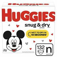 Huggies Snug & Dry Baby Diapers Size Newborn (fits up to 10 lb) 132 Count