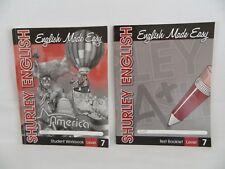 Shurley English Made Easy 7 Workbook & Test book, Homeschool / School Language