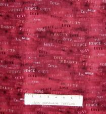 Valentine's Day Fabric - Sacre Couer Love Words on Pink-Red - Springs YARD