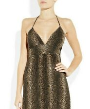 Melissa Odabash beach sun dress S leopard mini NEW halter top Rachel