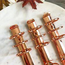 Rose Gold Planner 6 Ring Mechanism 30mm Diameter.