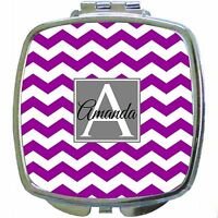 Design Your Own Personalized Monogrammed Compact Mirror - Great Bridesmaid Gift