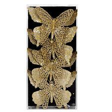Premier Noël À clipser Papillon Paillettes Décoration Arbre - Doré