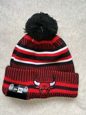 NEW ERA CHICAGO BULLS NBA BEANIE BLACK 100% AUTHENTIC