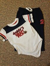 Gymboree Baby Boy One Piece Shirt With Navy Blue Knit Pants~Size 12-18 Months
