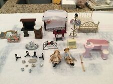 Various Dollhouse Furniture & Accessories, approximately 70 piecesm