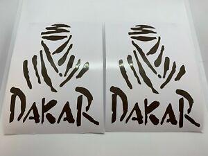 2 Aufkleber Dakar