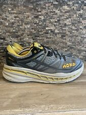 Men's Hoka One One Stinson 3 ATR Running Shoes Grey Yellow Gold 1008326 Size 13