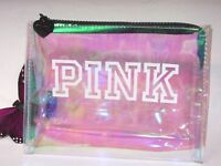 Victoria's Secret Pink Iridescent Cosmetic Bag Mermaid Holographic Beauty Case