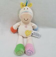 Mothercare NEW Pony Horse Donkey Comforter Rattle Soft Toy Loveheart