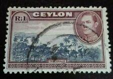 Ceylon:1938 -1949 King George VI - Local Motives 1 R. Rare & Collectible Stamp.