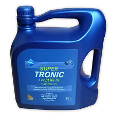 Aral SuperTronic LONGLIFE III 5W-30 Motoröl 5 Liter VW 504.00 507.00 Longlife 3