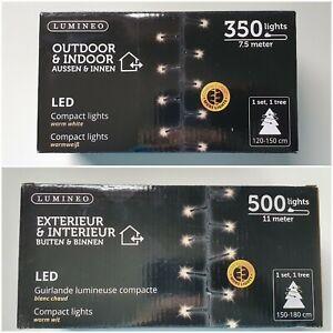 350/500 LED Lichterkette Weihnachtsbaum 2 Größen Trafo warmweiß  innen & außen
