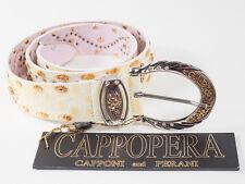 New  Cappopera Ivory leather Belt Size M