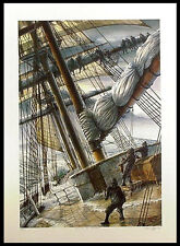 Pete Peterson FURLING THE MAINSAIL Hand Signed Limited Edition Artwork Art