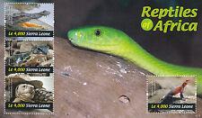 Sierra Leone 2011 MNH Reptiles of Africa 4v M/S Crocodile Geckos Tortoise