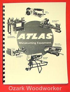 ATLAS Metalcutting Equipment Lathe, Band, Saw Catalog 0040