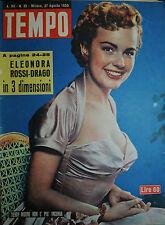 """TEMPO N°35 / 27-AGO.1953 """" TERRY MOORE NON E' PIU' INGENUA """""""