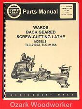 POWR-KRAFT Montgomery Wards TLC-2130A TLC-2136A Metal Lathe Part Manual 1016