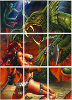 Red Sonja Trading Cards (Breygent) ~ PUZZLE 9-Card Insert Set (RS-P1~P9)
