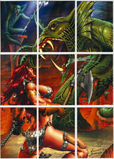 Red Sonja Trading Cards ~ PUZZLE Insert Card Set (RS-P1-P9)