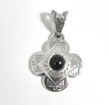 Handmade Unique Sterling Silver Black Onyx Pendant