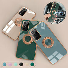 For Samsung S21 Ultra Plus S20 FE 5G Note 20 10 9 Magnetic Ring Shockproof Case