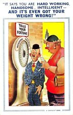 POSTCARD  COMIC   BAMFORTH ( LBT )  Weighing  Machine  Hen Pecked  Husband
