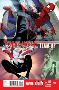 SPIDER-VERSE TEAM-UP #2 1ST PRINTING SPIDER-MAN ULTIMATE GWEN MILES AMAZING