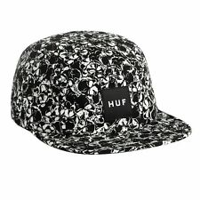 Huf SKULLS BOX LOGO VOLLEY Black White 5 Panel Cap Adjustable Men's Hat