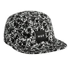Huf SKULLS BOX LOGO VOLLEY Black White 5 Panel Cap Adjustable Men's Hat